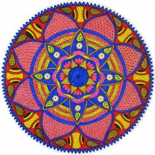 Red & Blue Mandala