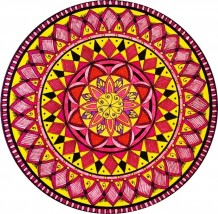 Yellow & Red Mandala