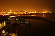 night at the bay