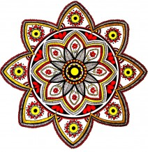 Red & Yellow Mandala