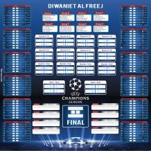 Champions League 2018 Foam Calendar V1 Design
