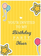 Birthday Invitation Card - 25 cards & Envelops - BC514 English