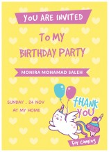 Birthday Invitation Card - 25 cards & Envelops - BC003