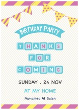 Birthday Invitation Card - 25 cards & Envelops - BC002
