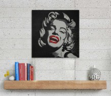 Canvas - Marilyn Monroe by Nouriya Al-Mass