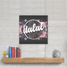 Name on Canvas Flowers Design English - CA002
