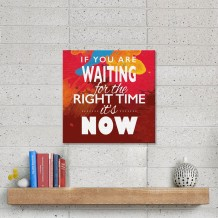 Sentence on Canvas Right Time - CA005