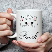 Name on Mug (Cat Design) - MU025