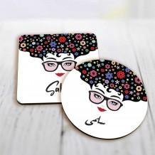 Girls Flower Mug Coaster