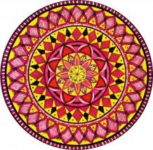 Yellow & Red Mandala