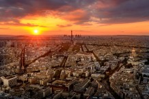 Sun Set Of Paris