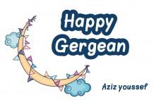 Gergean Card - 25 Card - Design ( Yellow Moon )
