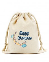 Drawstring Gergean Bag (Moon & Clouds Design)
