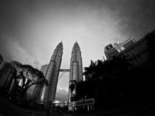 The Petronas Towers - B&W