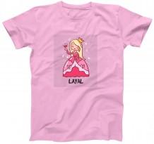 Princess (Red) - Kid's Circle Neck T-Shirt