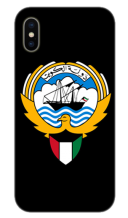 KUWAIT LOGO ON BLACK BACKGROUND MOBILE COVER