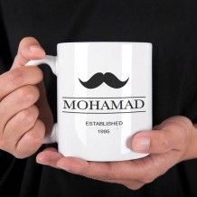 Name on Mug (Mustache Design) - MU030