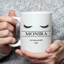 Name on Mug (Eyelashes Design) - MU031