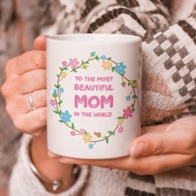 Sentence on Mug (Flowers Circle Design) - MU057