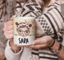 Cute Girl Mug & Coaster