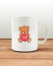 Bear & Heart Mug & Coaster