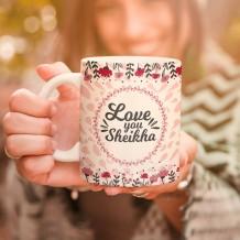Pink Heart & Flowers Mug & Coaster