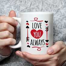 Name on Mug (Love U Always Design) - MU050