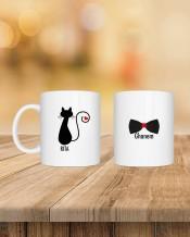 Cat & tie Couple Mug