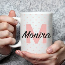 Name on Mug (Pink Points Design) - MU041