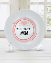 Sentence on Plate The Best MOM Design - PL006