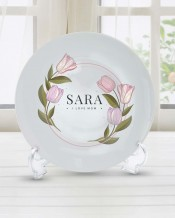 Sentence on Plate Flowers Design - PL007