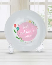 Sentence on Plate Pink Circle Design - PL008