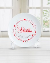 Name on Plate Love Circle Design - PL001