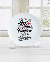 Name on Plate Love You For Ever Design - PL002