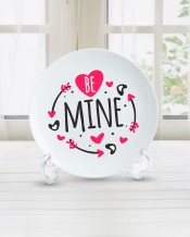 Sentence on Plate Be Mine Design - PL003