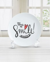 Name on Plate Smile Design - PL005
