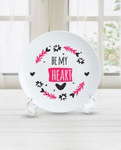 Sentence on Plate Be My Heart Design - PL004
