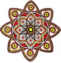 Red & Yellow Mandala