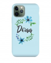 Mobile Cover Blue Flowers Design - MC017