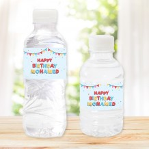 Pack of 20 Water Bottles Birthday II Design