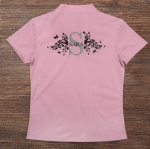 Woman's Polo T-Shirt Design ( Letter & Name)