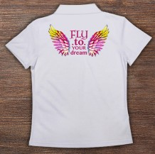 Woman's Polo T-Shirt Design ( Wings )