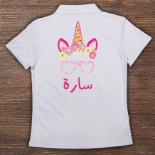 Woman's Polo T-Shirt Design ( Unicorn )
