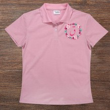 Woman's Polo T-Shirt Design ( Letter )