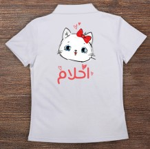 Woman's Polo T-Shirt Design ( Cat )