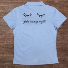 Woman's Polo T-Shirt Design ( Eyelashes )