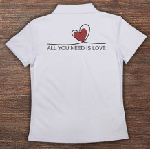Woman's Polo T-Shirt Design ( Heart )
