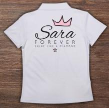 Woman's Polo T-Shirt Design ( Diamond )