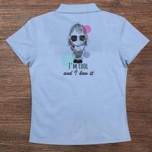 Woman's Polo T-Shirt Design ( Cool Girl )