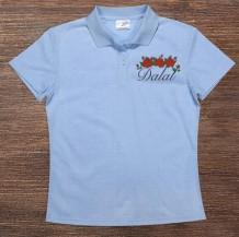 Woman's Polo T-Shirt Design ( Flowers )